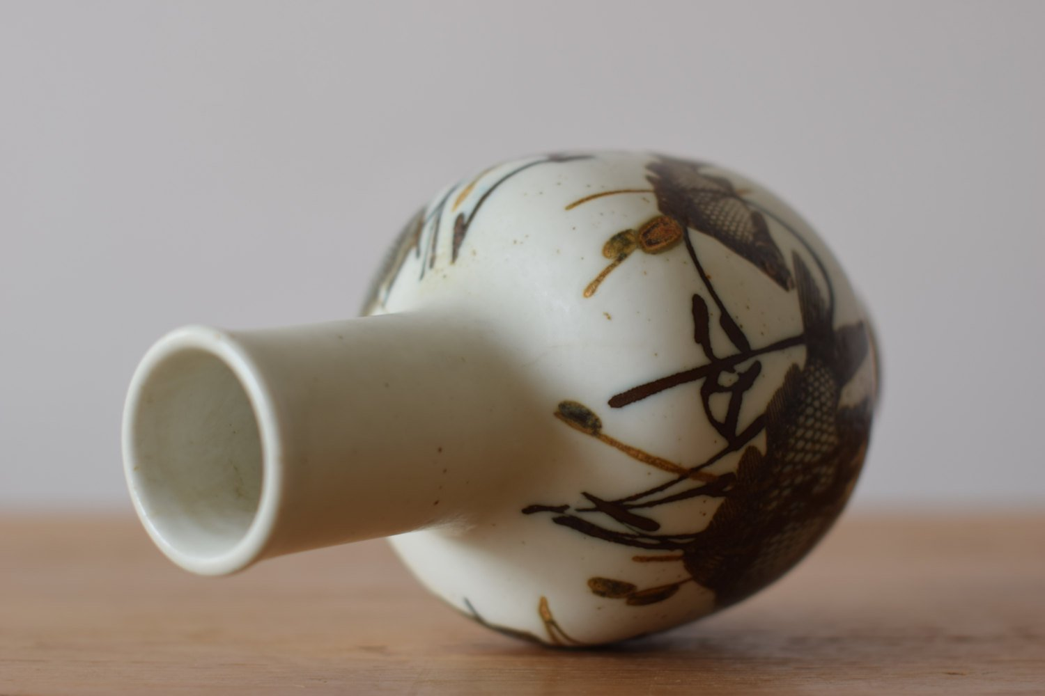 Danish Diana Vase With Fish Motif By Nils Thorsson For