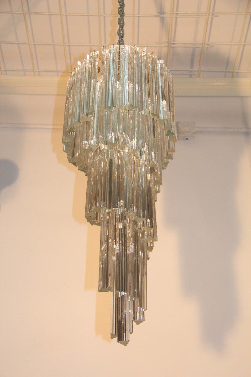 Italian cascading chandelier from venini 1960s for sale at pamono italian cascading chandelier from venini 1960s arubaitofo Gallery
