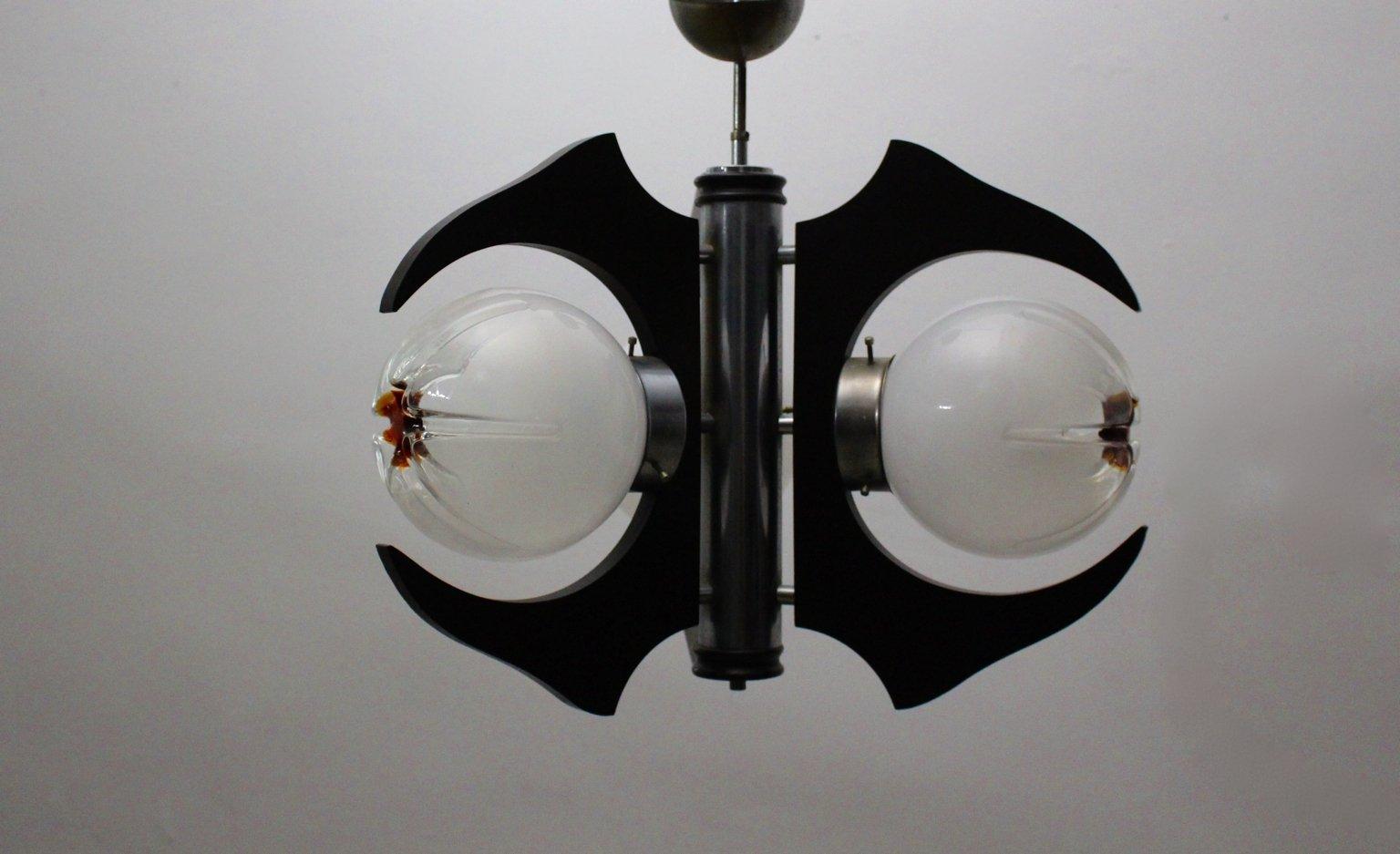 Italienische deckenlampe mit drei leuchten 1960er bei for Italienische leuchten