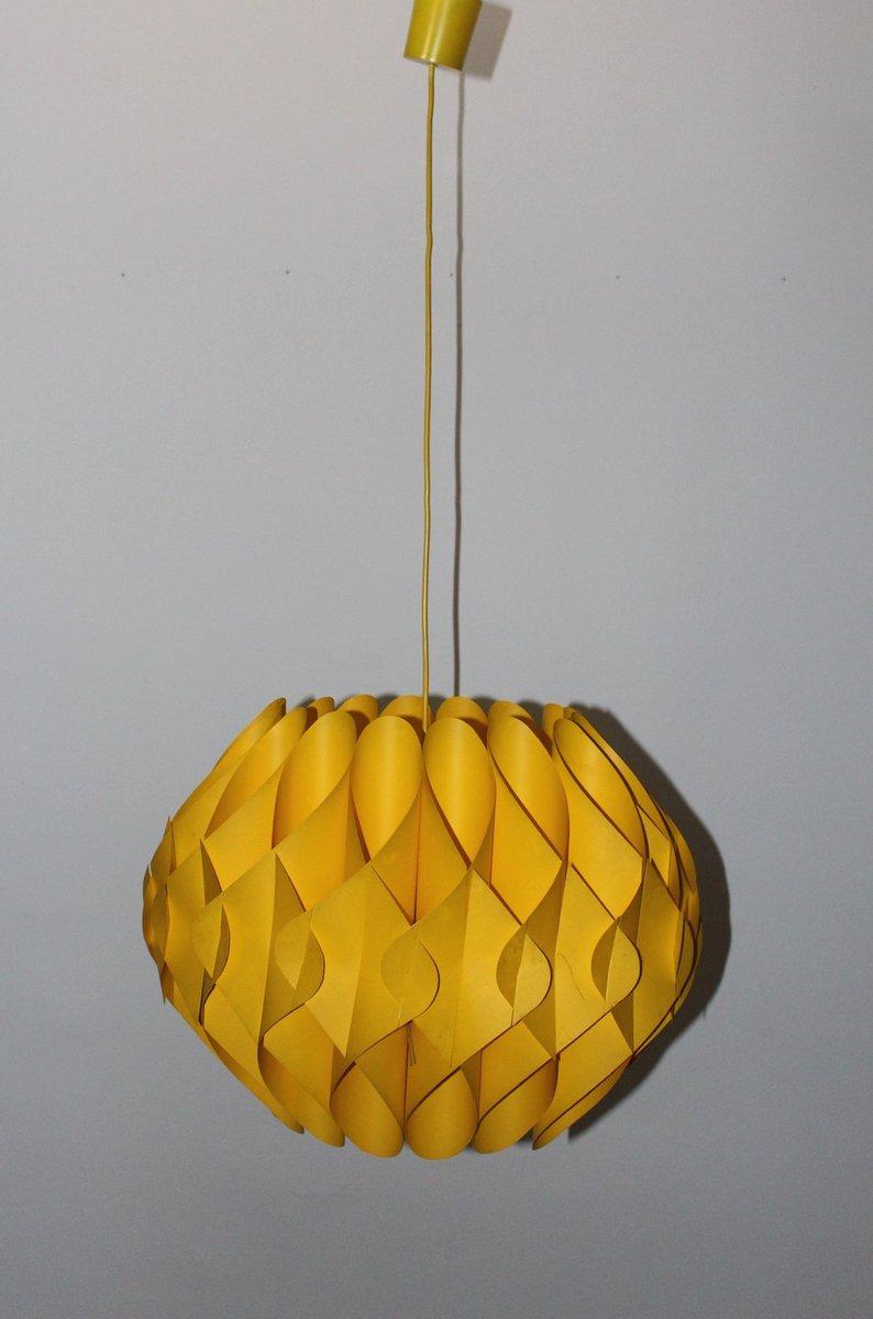 yellow pendant lighting. Yellow Pendant Lamp From Linus Popp, 1970s Lighting