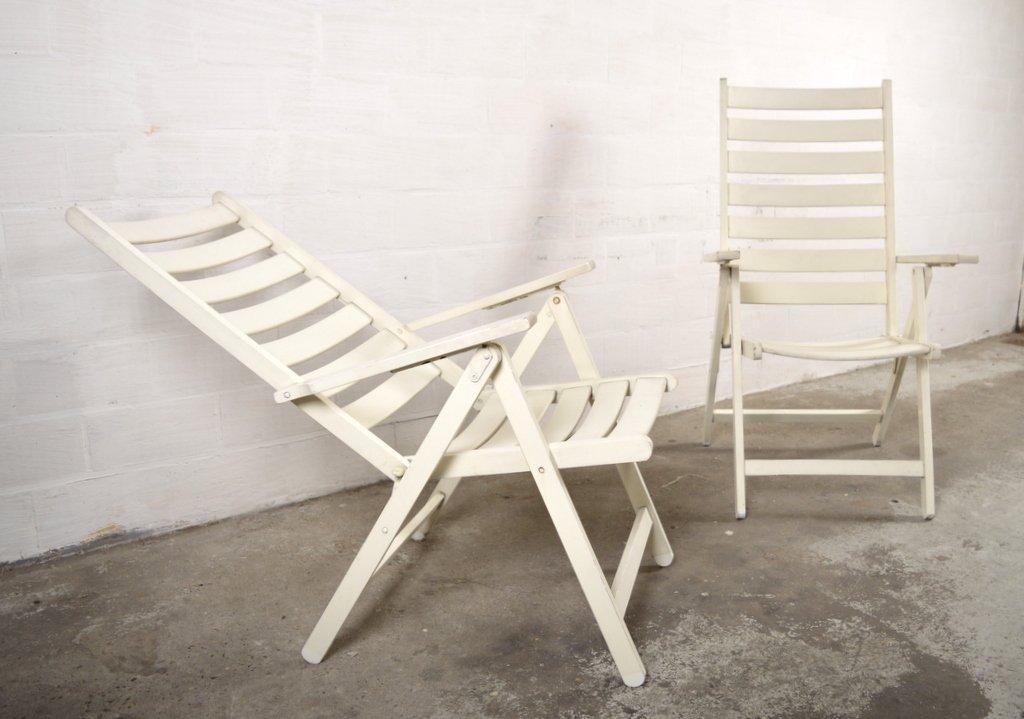 wei e gartenst hle aus holz von 2er set bei pamono kaufen. Black Bedroom Furniture Sets. Home Design Ideas