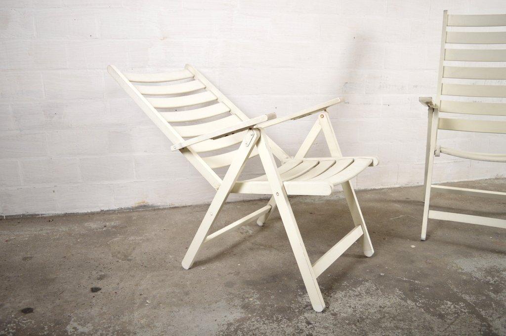 Weiße Gartenstühle Aus Holz Von, 2er Set