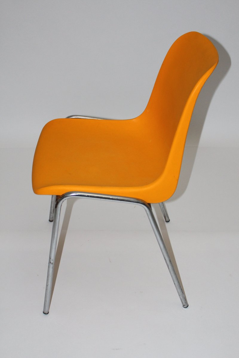 Vintage orange side chair 1970s for sale at pamono for Side chairs for sale