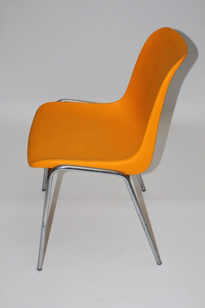 Captivating Vintage Orange Side Chair, 1970s