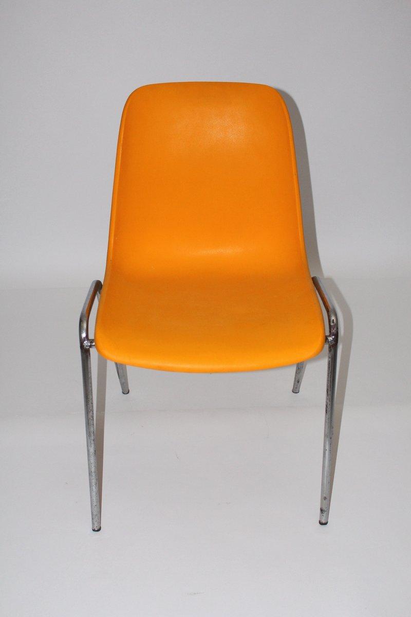 orangenfarbener vintage stuhl 1970er bei pamono kaufen. Black Bedroom Furniture Sets. Home Design Ideas