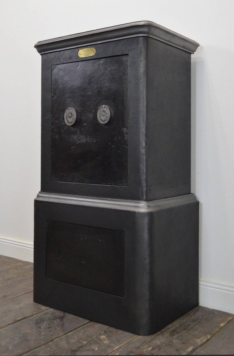 vintage metallschrank von fichet bei pamono kaufen. Black Bedroom Furniture Sets. Home Design Ideas