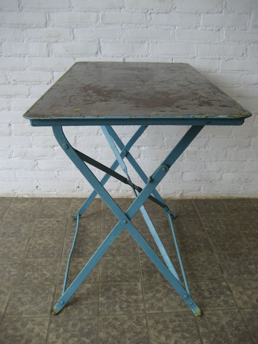 Table de jardin industrielle en acier belgique en vente - Table de jardin en acier ...