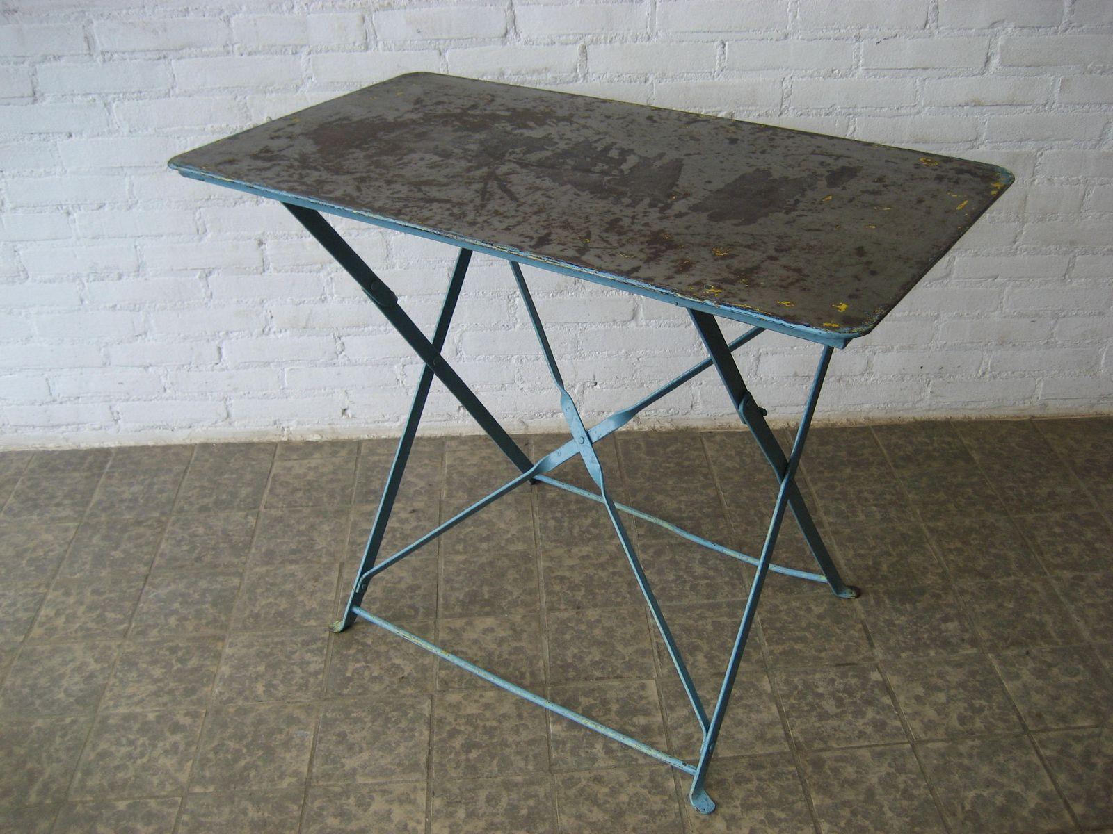 table de jardin industrielle en acier belgique en vente. Black Bedroom Furniture Sets. Home Design Ideas