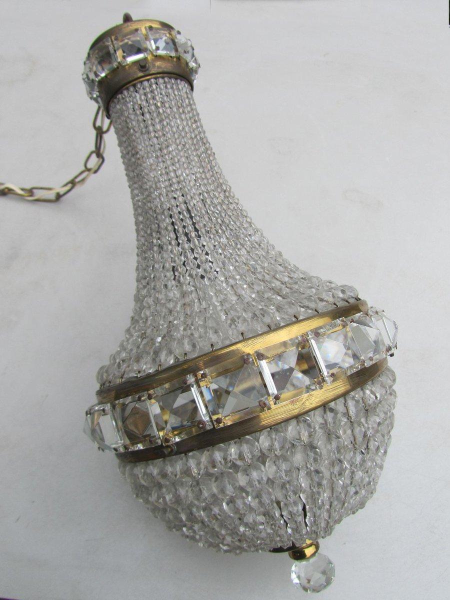 franz sischer vintage kristallperlen kronleuchter bei pamono kaufen. Black Bedroom Furniture Sets. Home Design Ideas