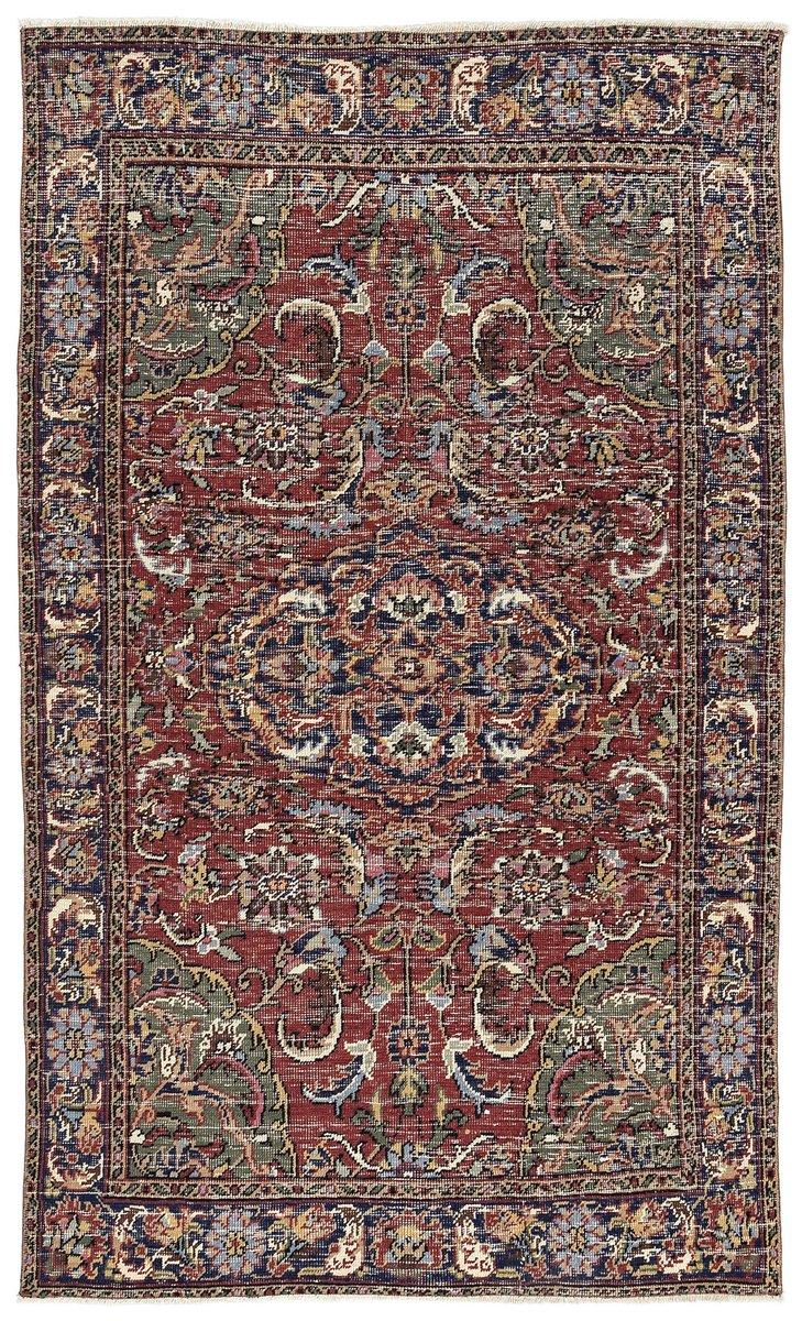 mehrfarbig eingef rbter vintage teppich aus der t rkei bei pamono kaufen. Black Bedroom Furniture Sets. Home Design Ideas