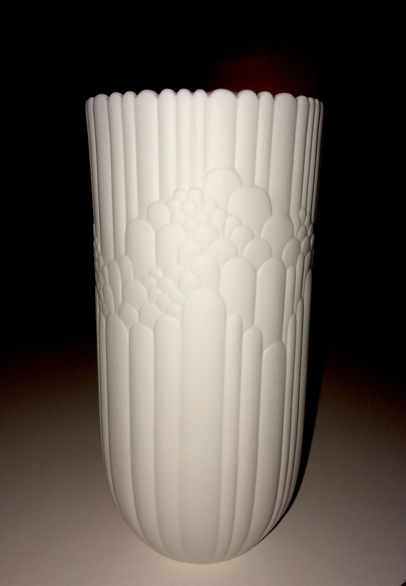 Mid Century Bisque Porcelain Vases By Rosamunde Nairac For