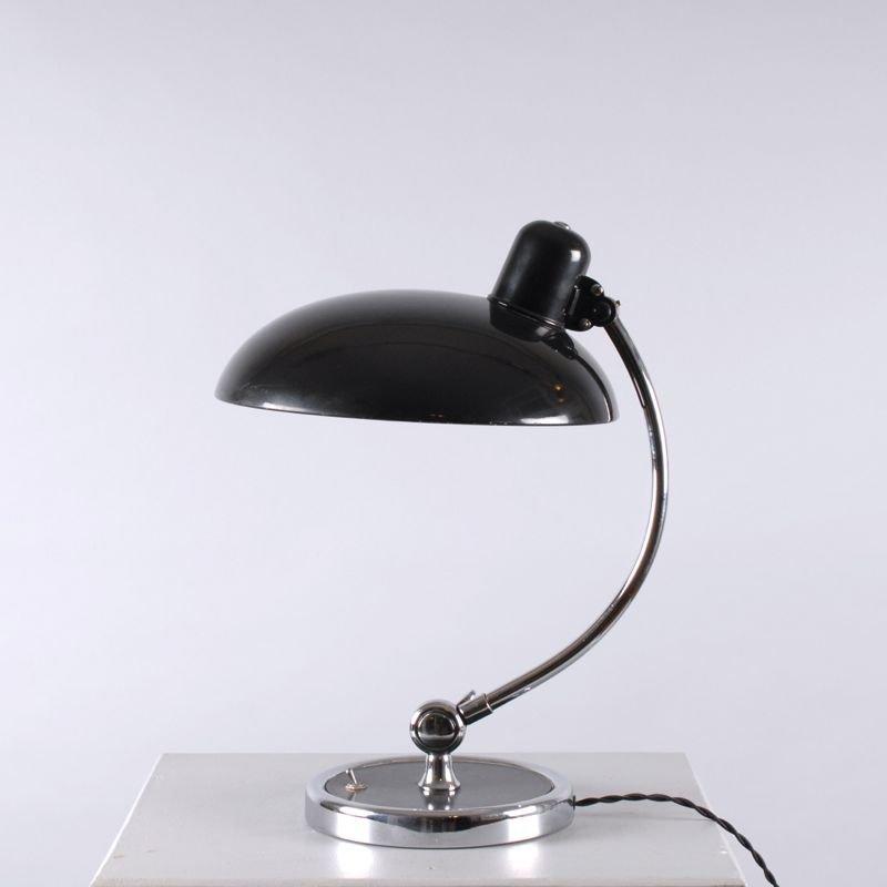 Vintage Chrome And Black President Desk Lamp By Christian Dell For Kaiser  Idell For Sale At Pamono