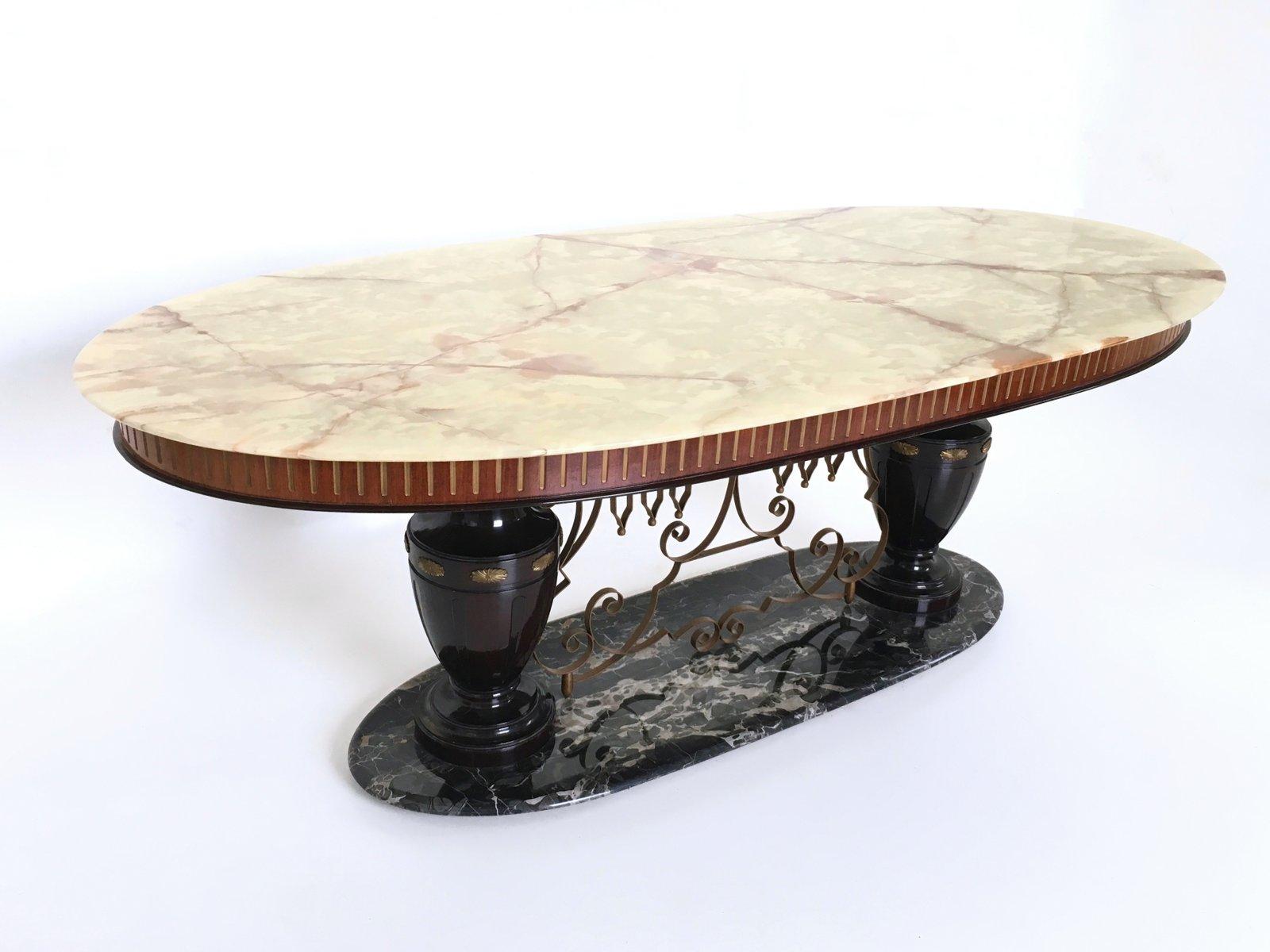 portoro marmor onyx tisch 1950er bei pamono kaufen. Black Bedroom Furniture Sets. Home Design Ideas