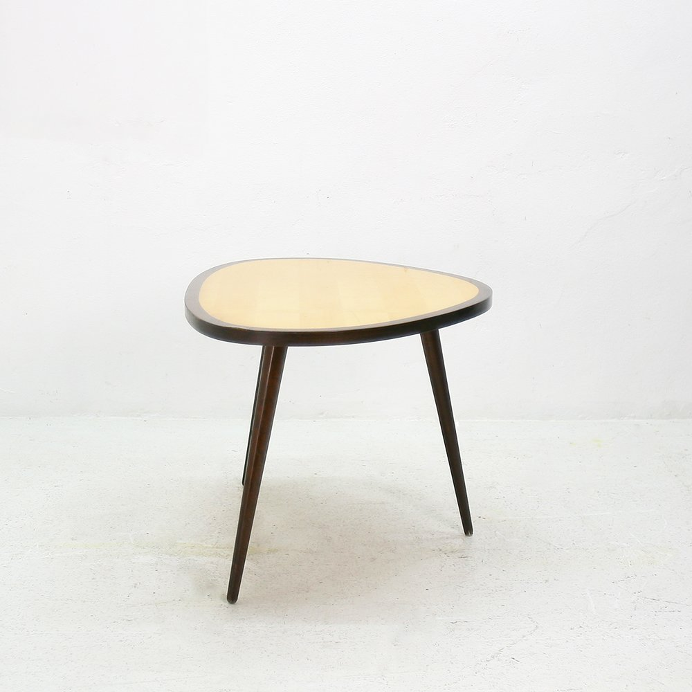 abgerundeter ahorn buchenholz tisch 1950er bei pamono. Black Bedroom Furniture Sets. Home Design Ideas