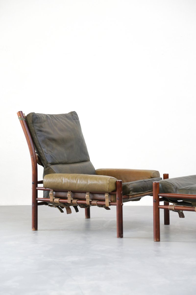 Mid Century Lounge Chair U0026 Ottoman From Arne Norell