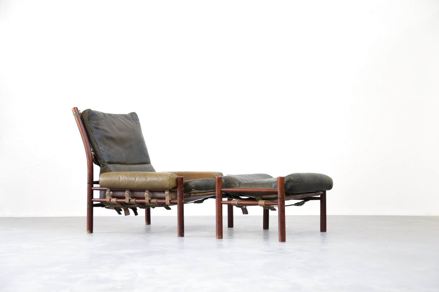Superb Mid Century Lounge Chair U0026 Ottoman From Arne Norell