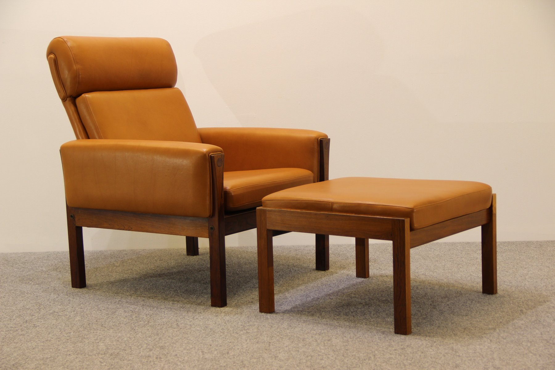 Mid Century AP62 Lounge Chair U0026 Ottoman By Hans J. Wegner For AP Stolen