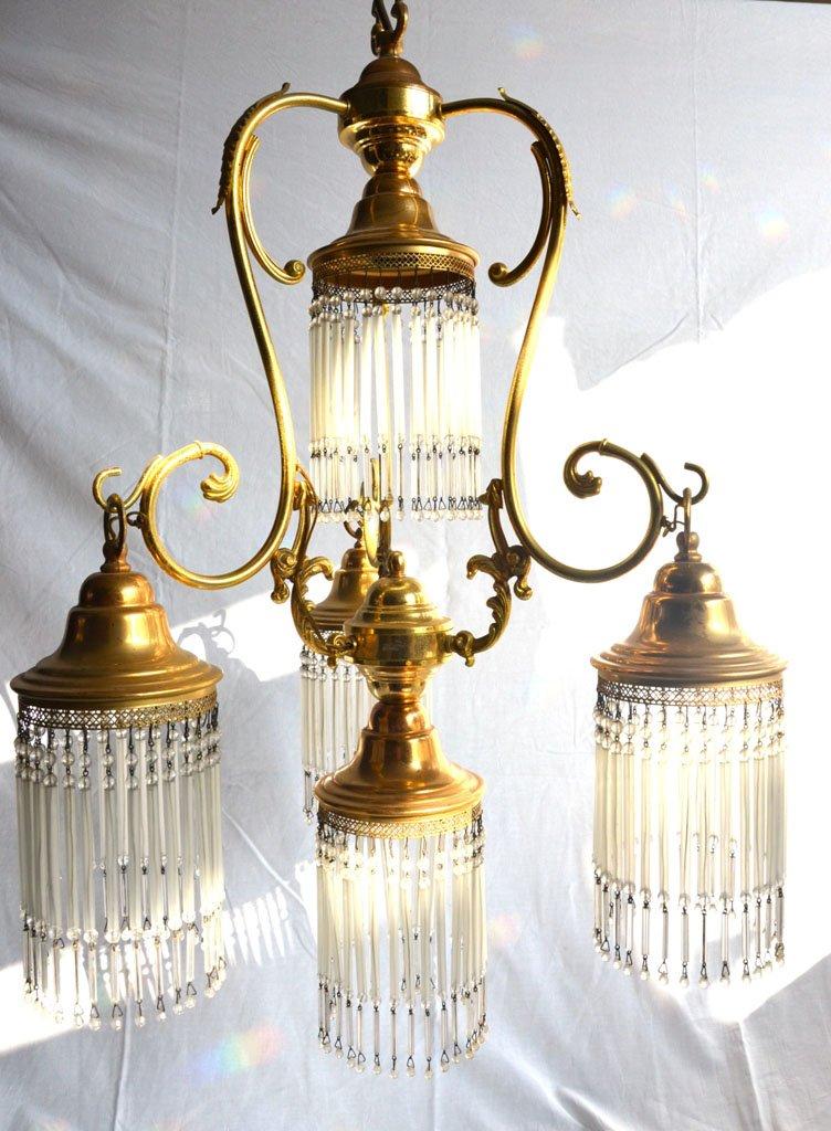 italienische goldene vintage h ngelampe bei pamono kaufen. Black Bedroom Furniture Sets. Home Design Ideas
