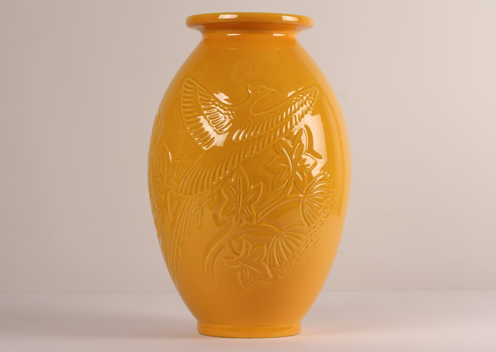 Large yellow ceramic vase from knabstrup 1970s for sale at pamono reviewsmspy