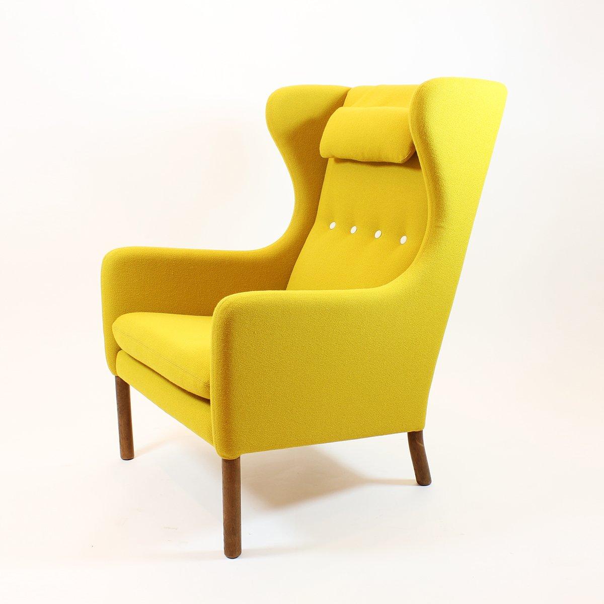 gelber skandinavischer mid century sessel bei pamono kaufen. Black Bedroom Furniture Sets. Home Design Ideas