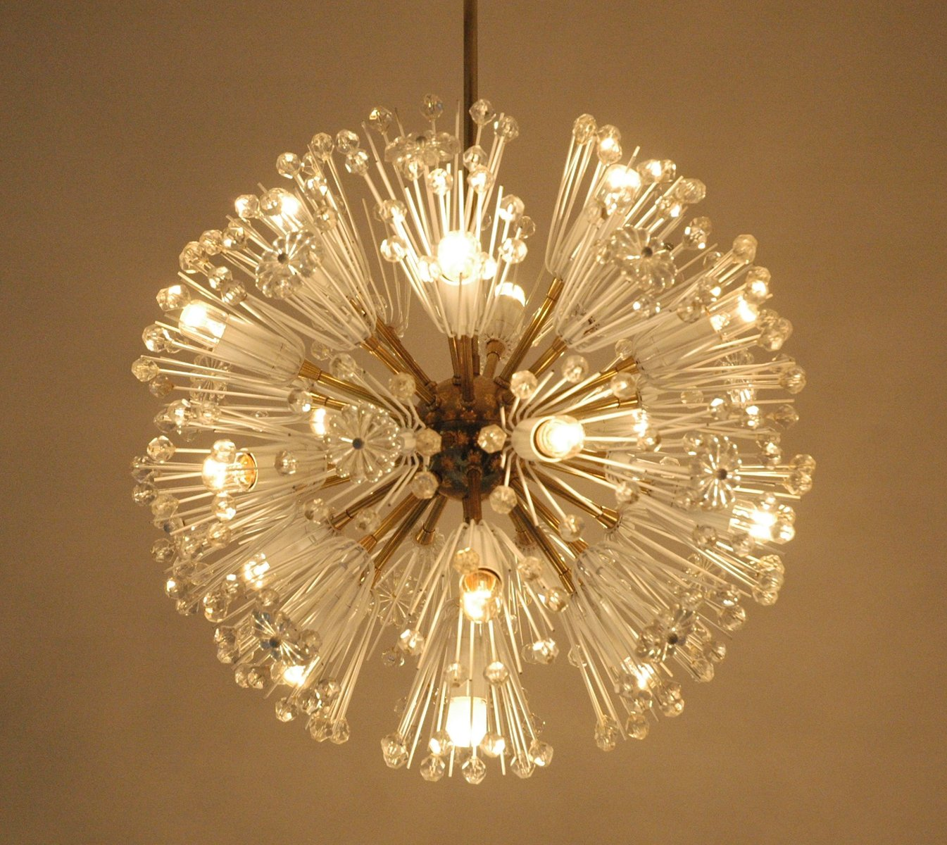 Snowflake chandelier by emil stejnar for rubert nikoll 1950s for price per piece mozeypictures Choice Image