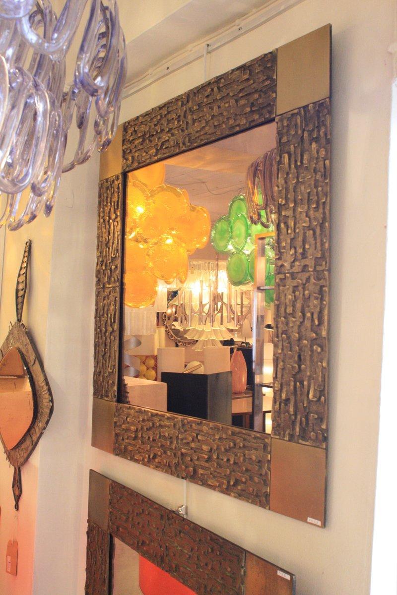 italienische spiegel mit bronze rahmen von luciano frigerio 1960er 2er set bei pamono kaufen. Black Bedroom Furniture Sets. Home Design Ideas