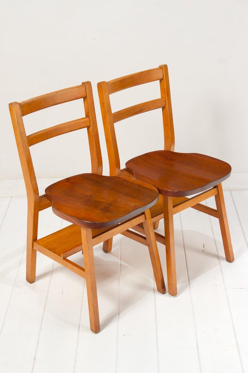 Stühle 2er Set : stapelbare englische st hle 1950er 2er set bei pamono kaufen ~ Frokenaadalensverden.com Haus und Dekorationen