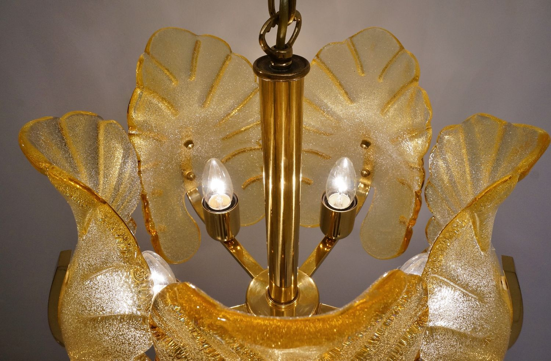 schwedischer mid century glas messing kronleuchter bei pamono kaufen. Black Bedroom Furniture Sets. Home Design Ideas