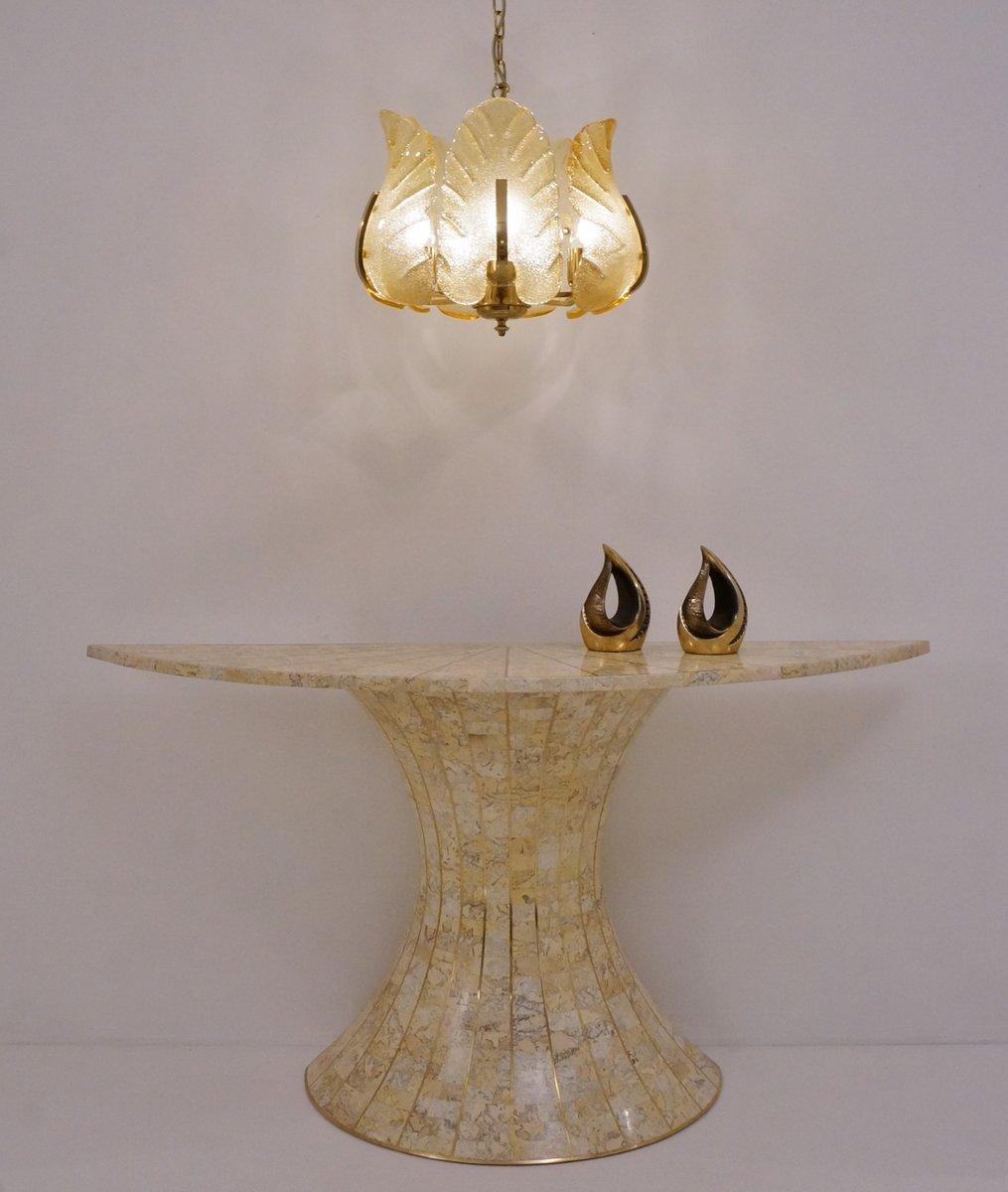 schwedischer mid century glas messing kronleuchter bei. Black Bedroom Furniture Sets. Home Design Ideas