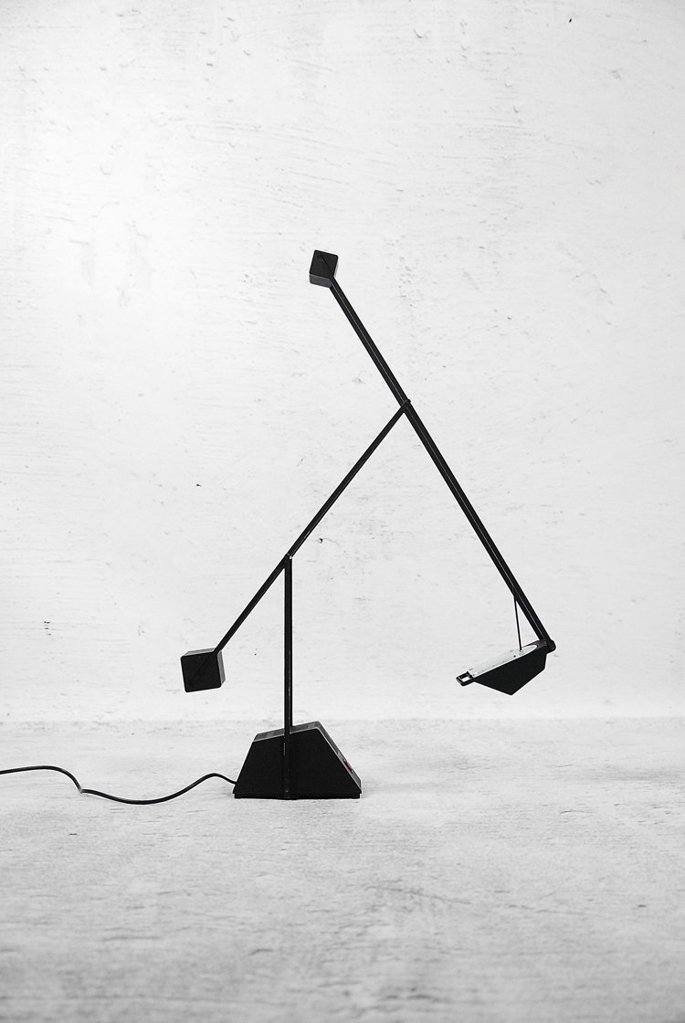 verstellbare deutsche lampe von haustadt leuchten 1980er bei pamono kaufen. Black Bedroom Furniture Sets. Home Design Ideas
