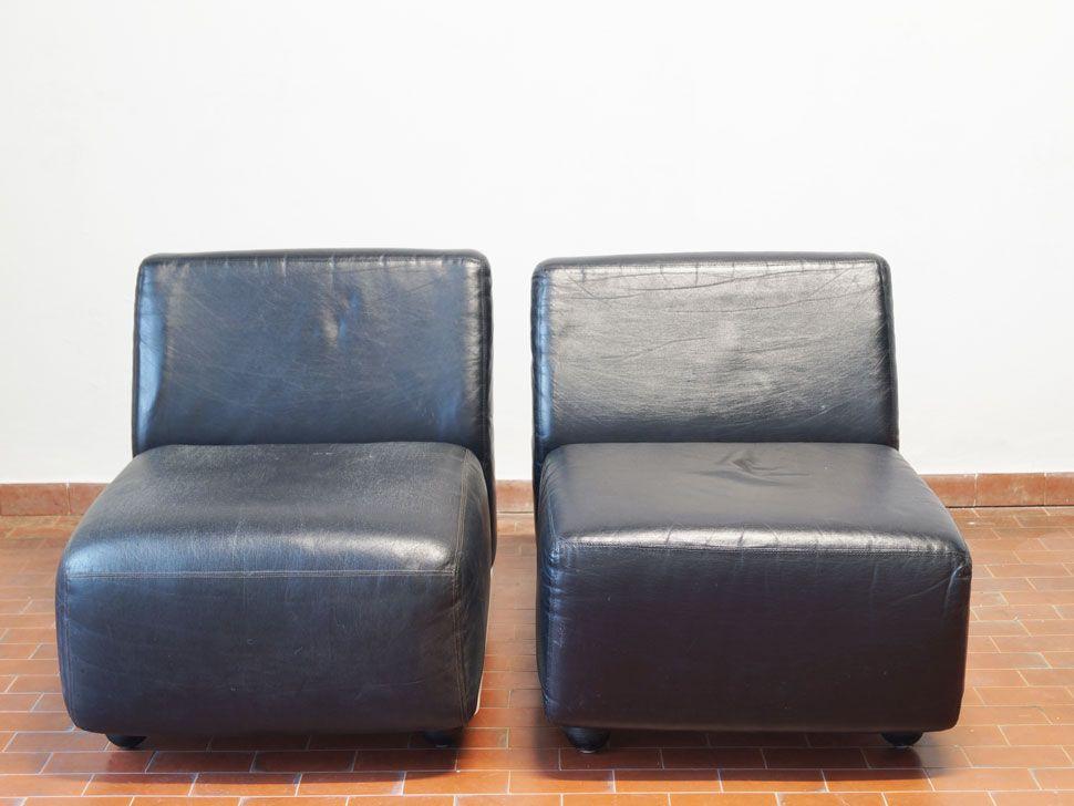 Amanta Leather Sofa Element By Mario Bellini For B B Italia 1966 For Sale At Pamono