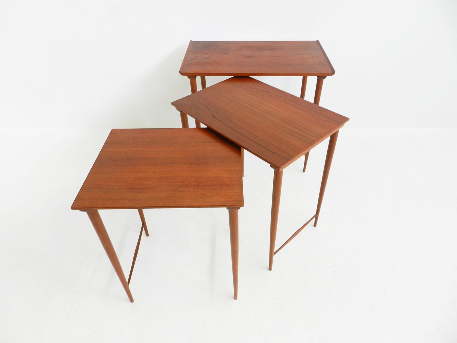 Mid Century Teak Nesting Tables By Grete Jalk Amazing Design