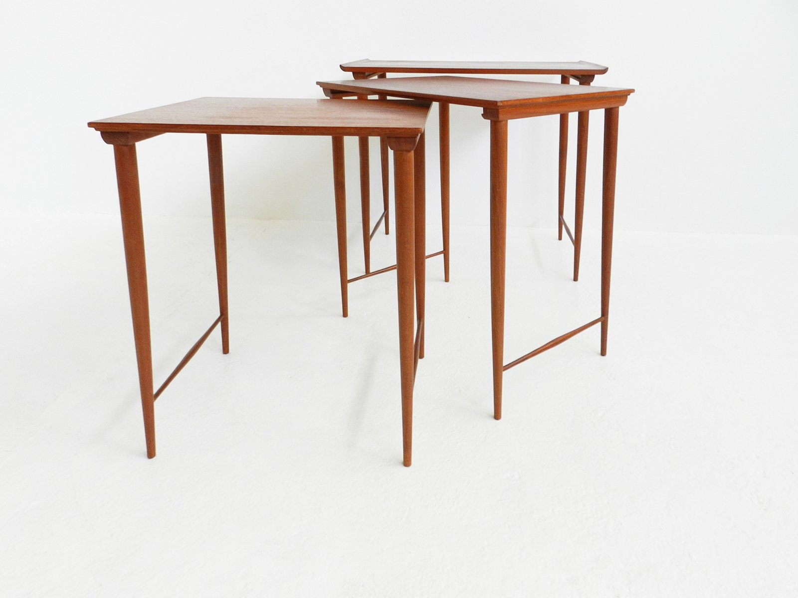 Superior Mid Century Teak Nesting Tables By Grete Jalk Gallery