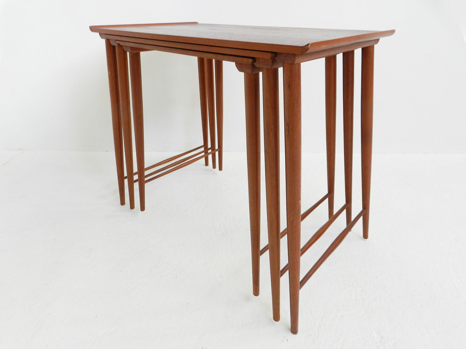 Mid Century Teak Nesting Tables By Grete Jalk