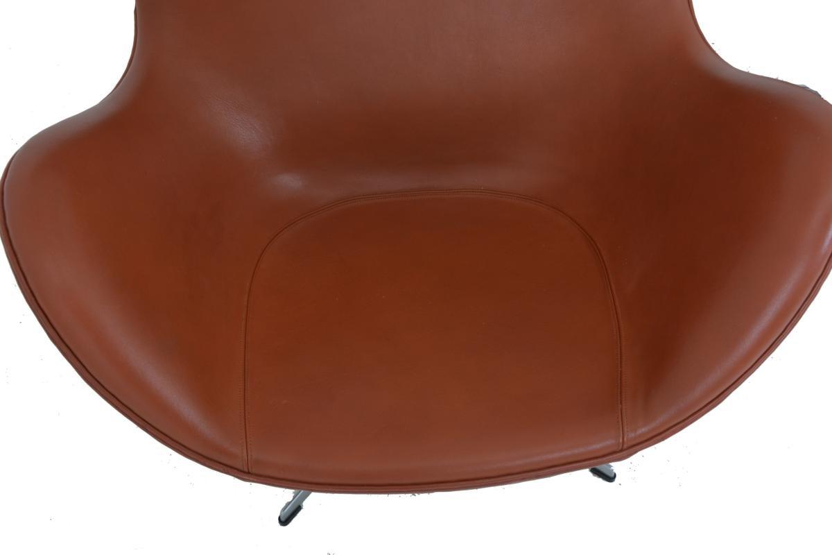 egg chair footstool by arne jacobsen for fritz hansen for sale at pamono. Black Bedroom Furniture Sets. Home Design Ideas