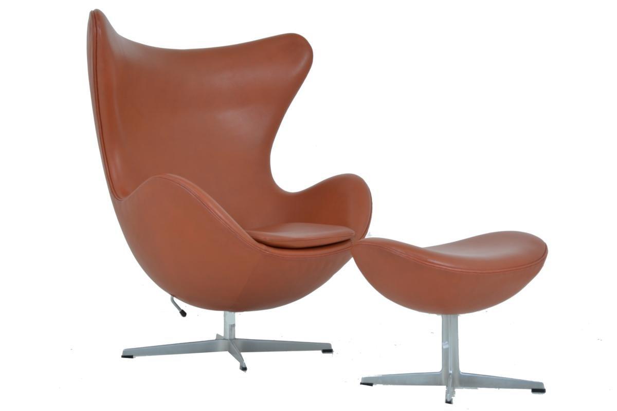 egg chair hocker von arne jacobsen f r fritz hansen bei pamono kaufen. Black Bedroom Furniture Sets. Home Design Ideas