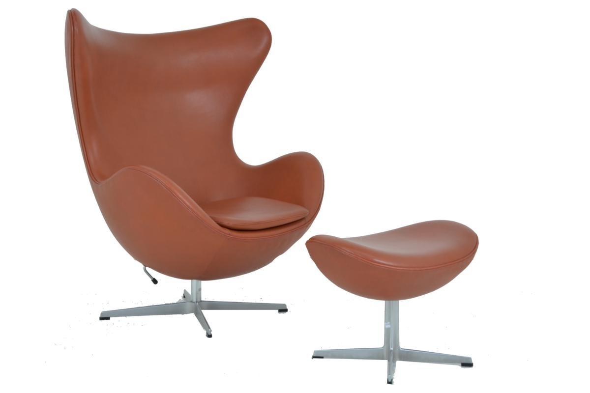 egg chair hocker von arne jacobsen f r fritz hansen bei. Black Bedroom Furniture Sets. Home Design Ideas