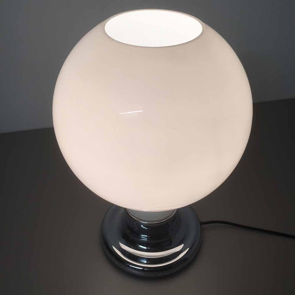 tischlampe mit glas lampenschirm von cosack 1970er bei pamono kaufen. Black Bedroom Furniture Sets. Home Design Ideas