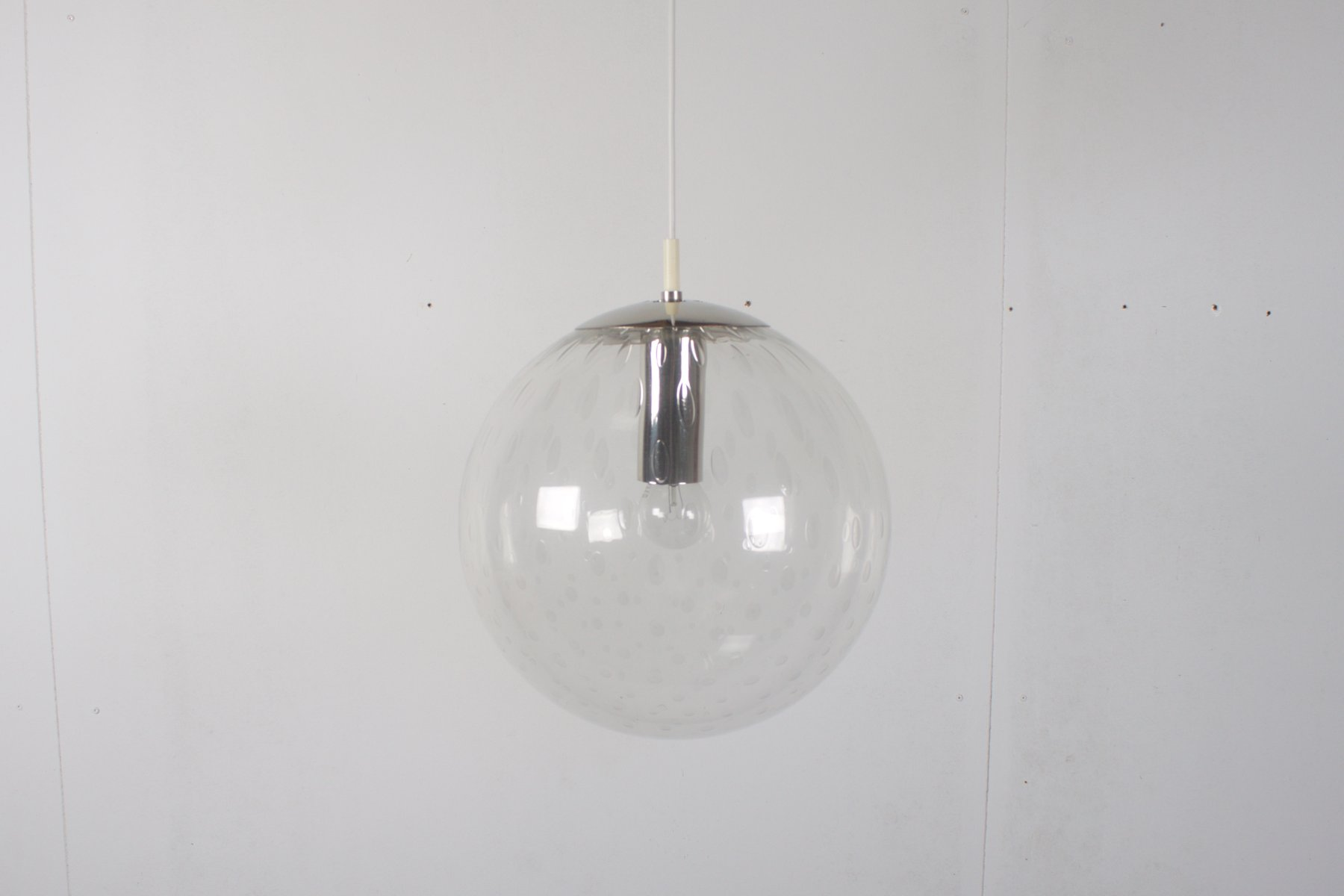 Dutch Large Licht Drops Globe Pendant By RAAK Amsterdam 1960s