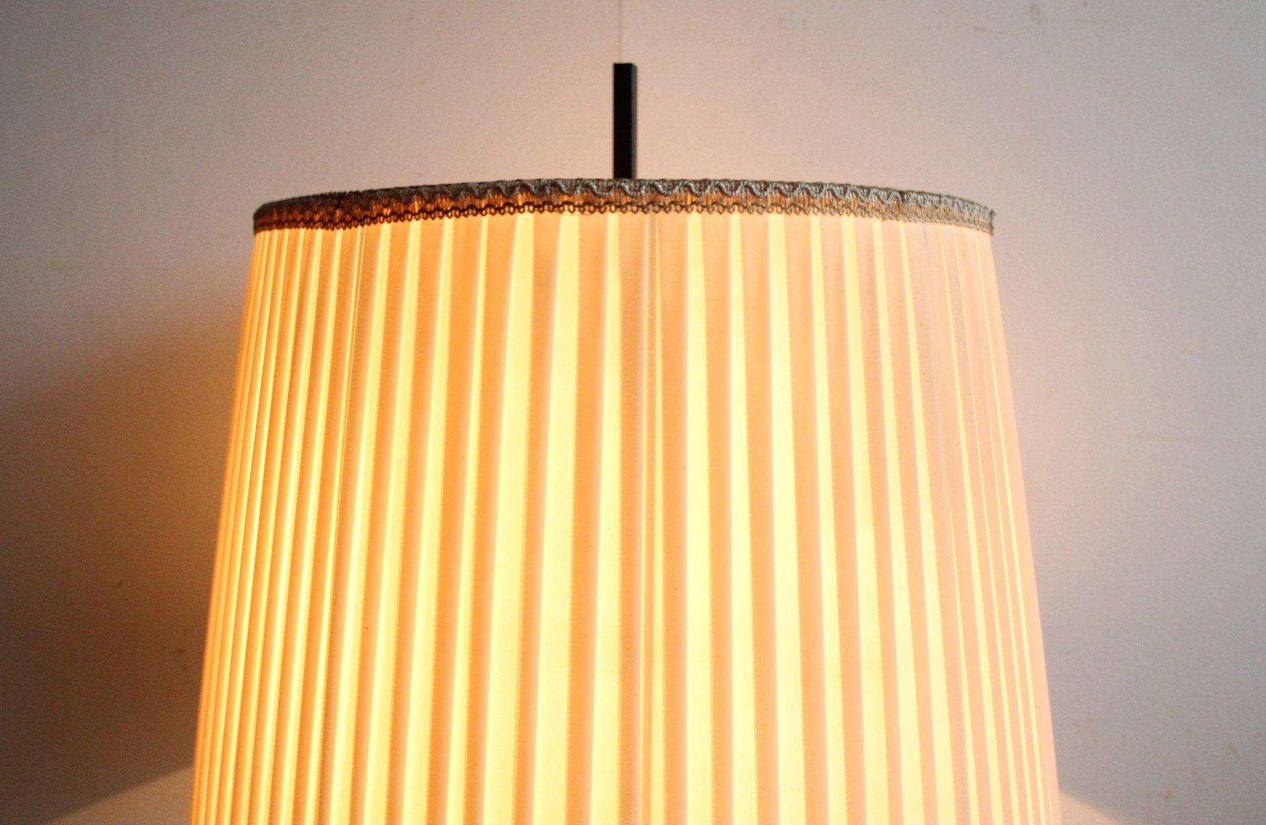 stehlampe aus messing schwarz lackiertem metal 1950er bei pamono kaufen. Black Bedroom Furniture Sets. Home Design Ideas