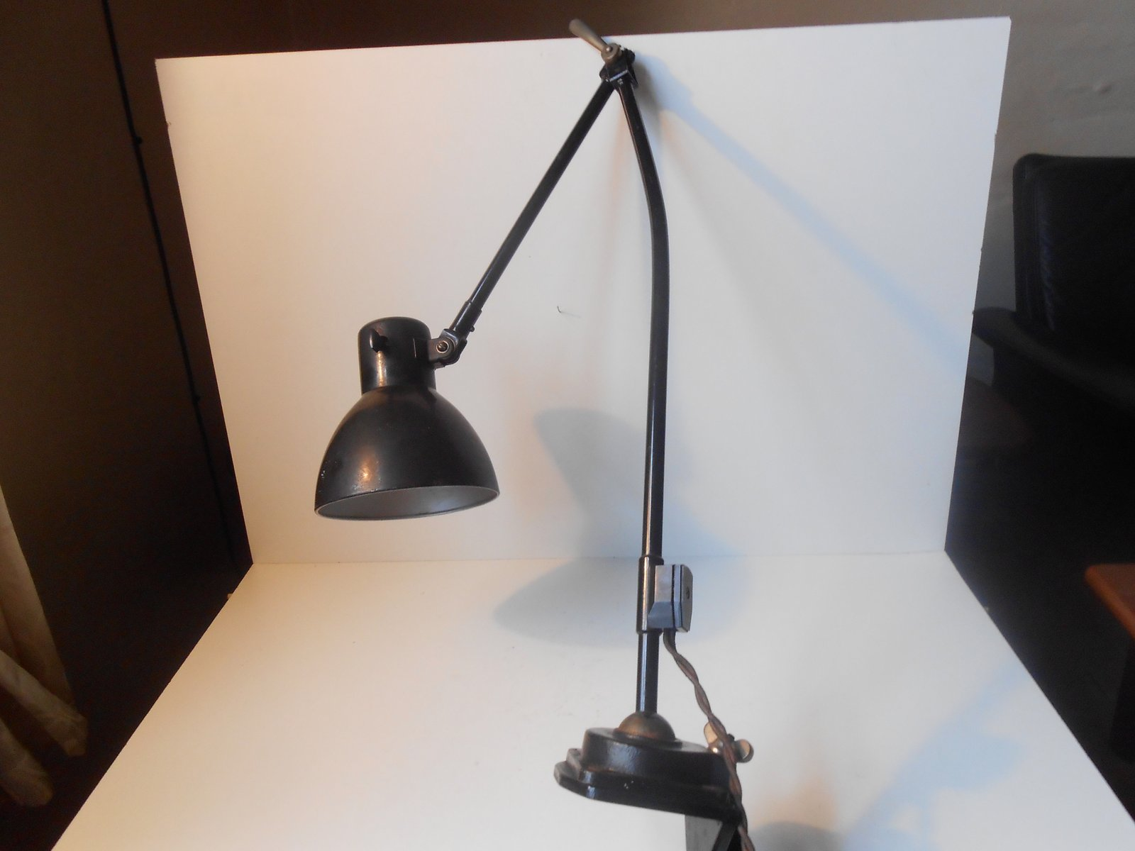 Industrial Desk Lamp by Marianne Brandt for Kandem 1930s for sale