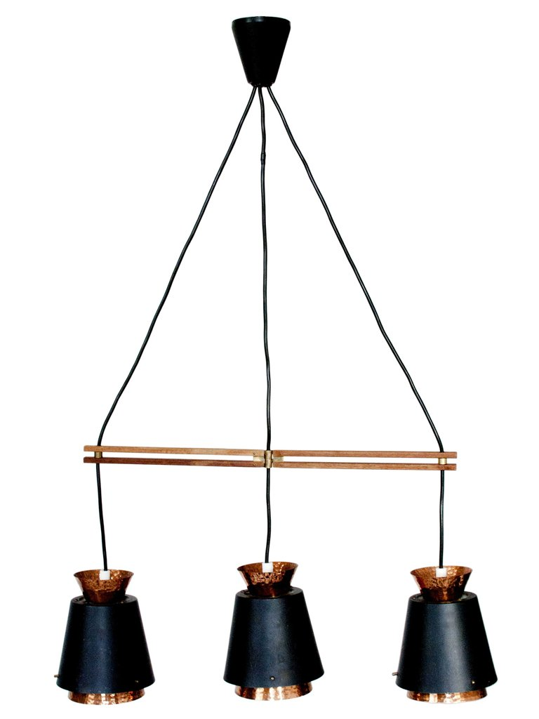lampe suspension mid century scandinave en cuivre en vente sur pamono. Black Bedroom Furniture Sets. Home Design Ideas