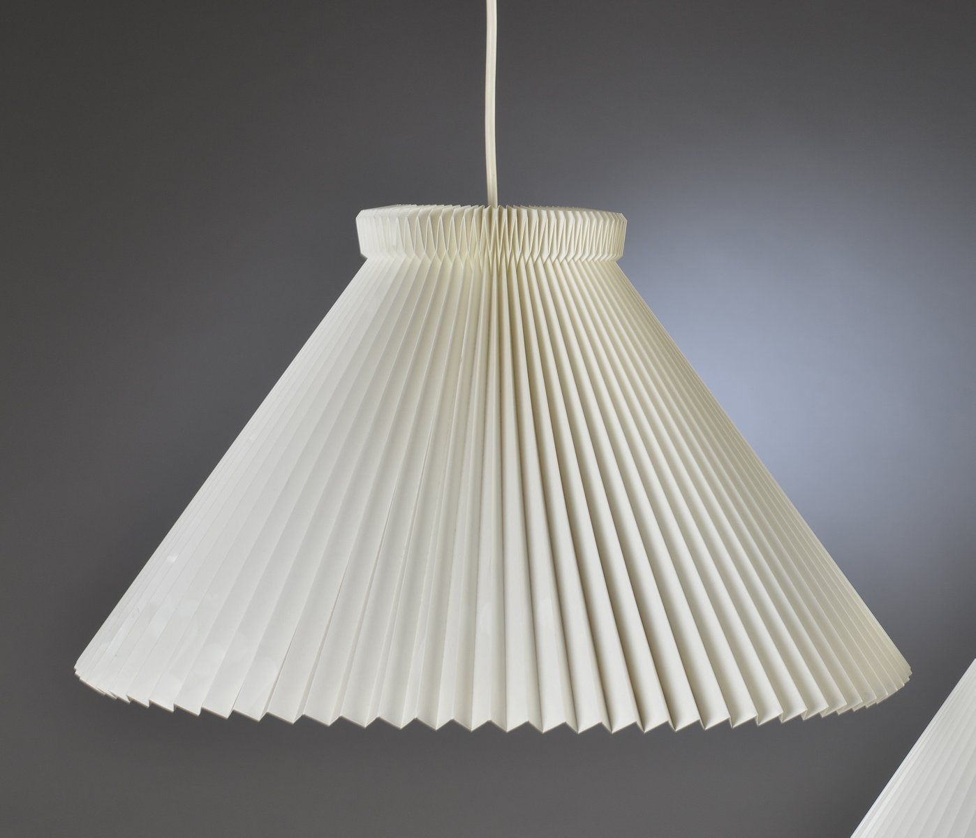 MidCentury Fan Shade Pendant by Kaare Klint for Le klint for sale