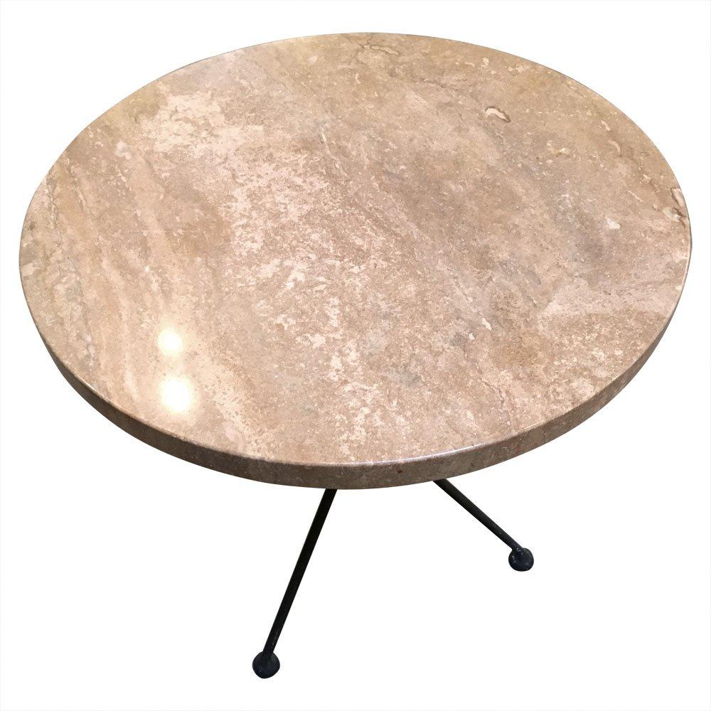 italienischer vintage dreibein tisch mit marmorplatte 1960er bei pamono kaufen. Black Bedroom Furniture Sets. Home Design Ideas