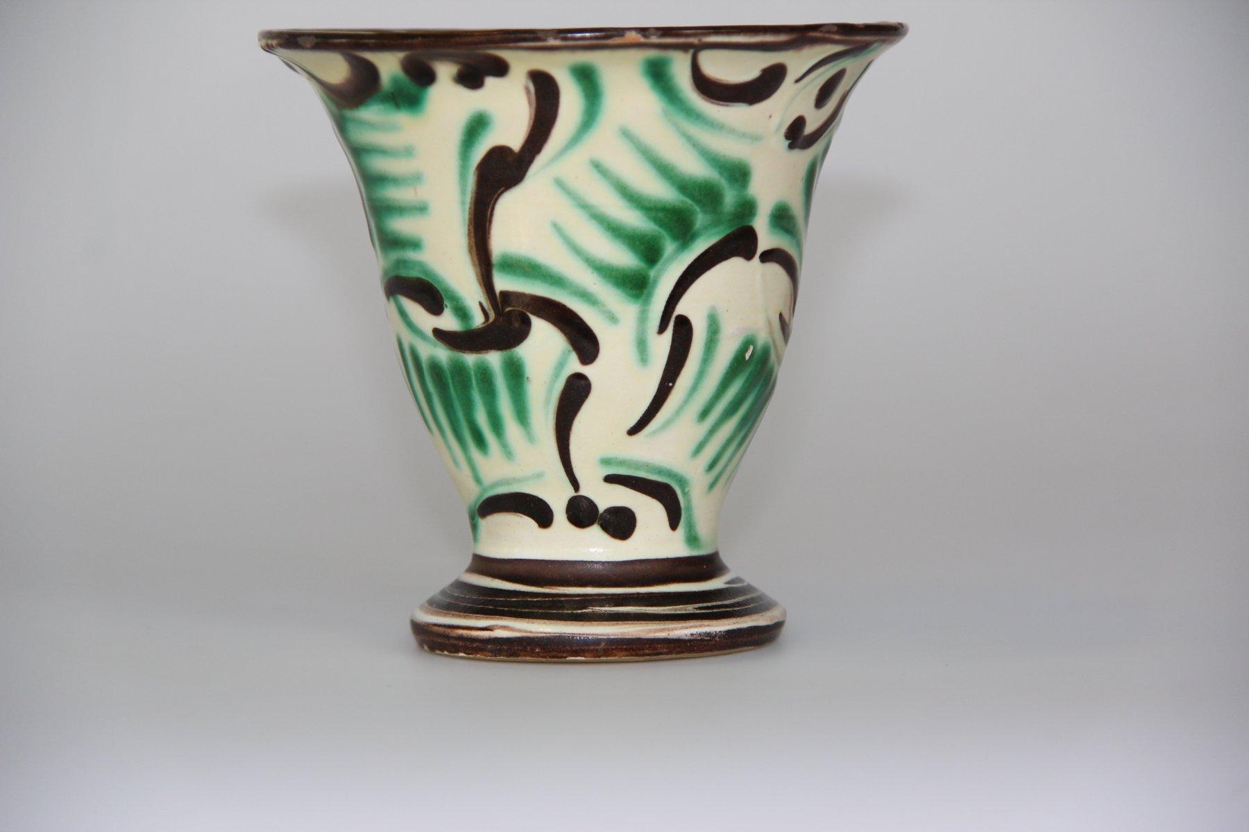Vintage green ceramic vase from khler for sale at pamono vintage green ceramic vase from khler reviewsmspy