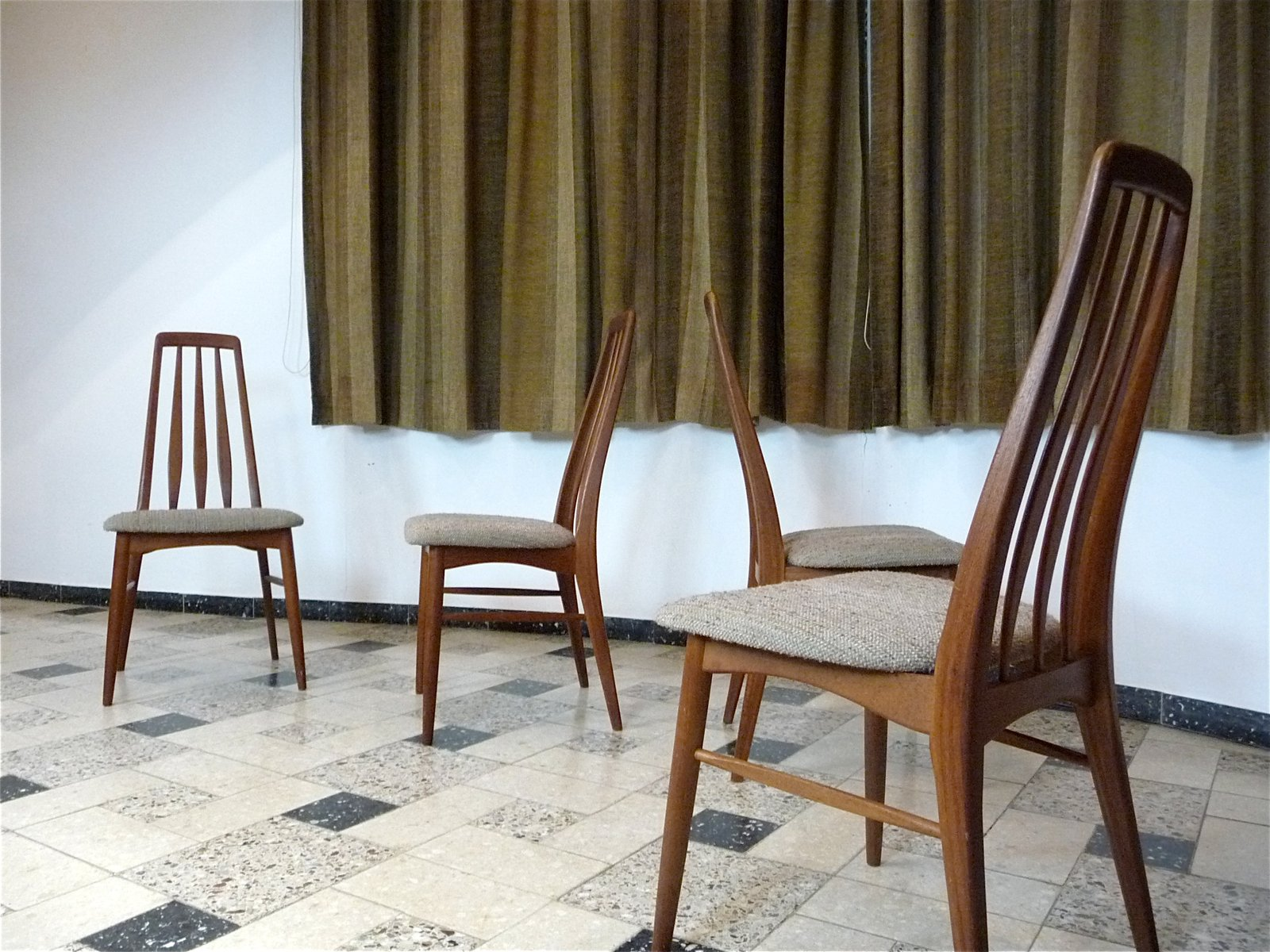 Eva Teak Dining Chairs By Niels Koefoed For Koefoed Møbelfabrik, 1960s, Set  Of 4 For Sale At Pamono