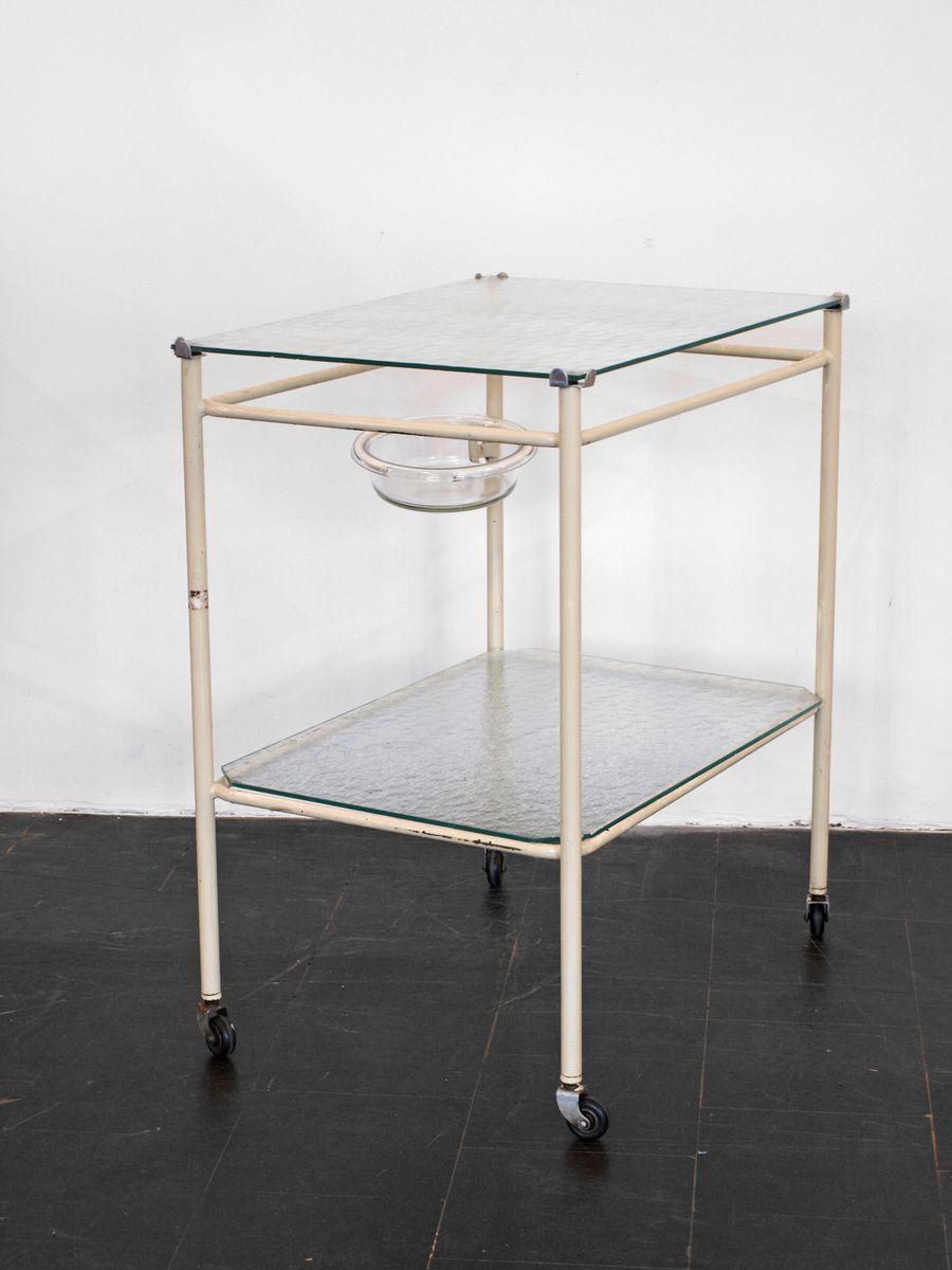 medizinischer mid century tisch auf rollen bei pamono kaufen. Black Bedroom Furniture Sets. Home Design Ideas