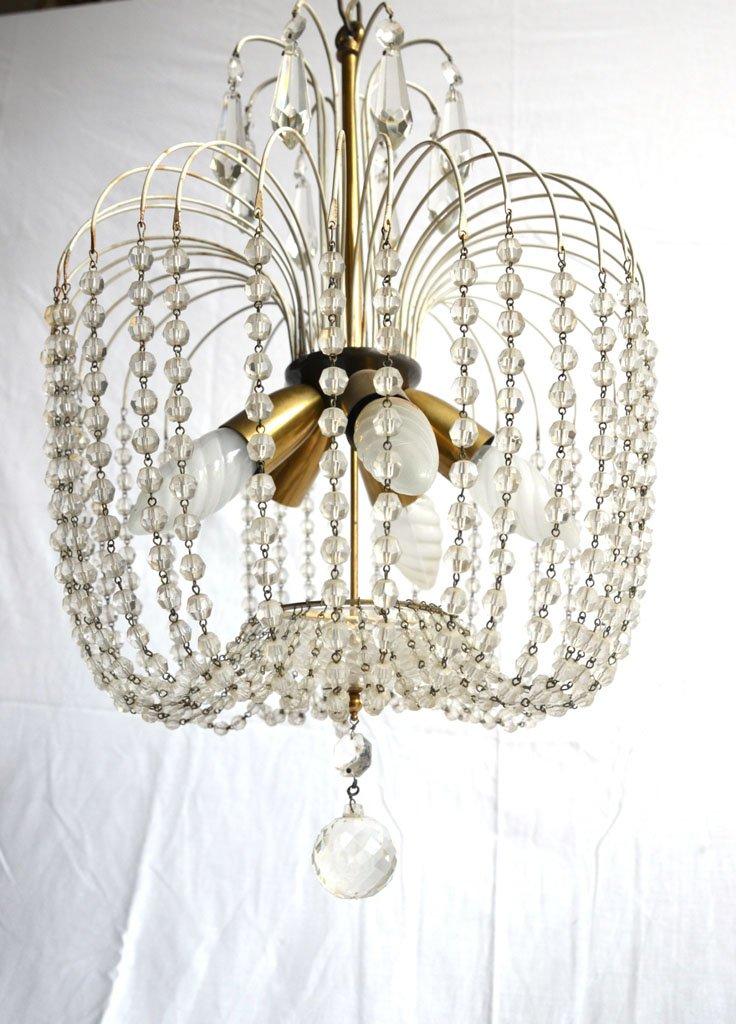 italienischer vintage kronleuchter mit glasperlen bei pamono kaufen. Black Bedroom Furniture Sets. Home Design Ideas