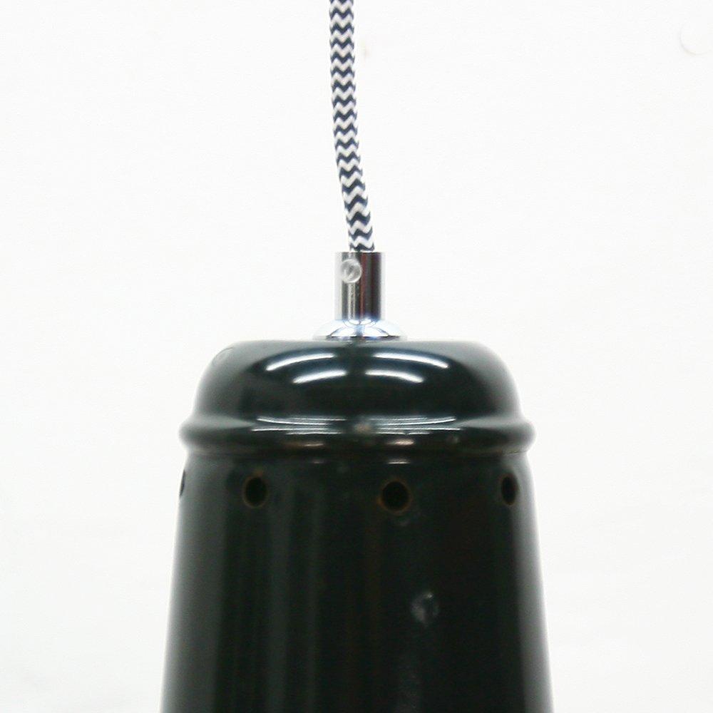 gro e industrielle schwarze emaillierte vintage h ngelampe bei pamono kaufen. Black Bedroom Furniture Sets. Home Design Ideas
