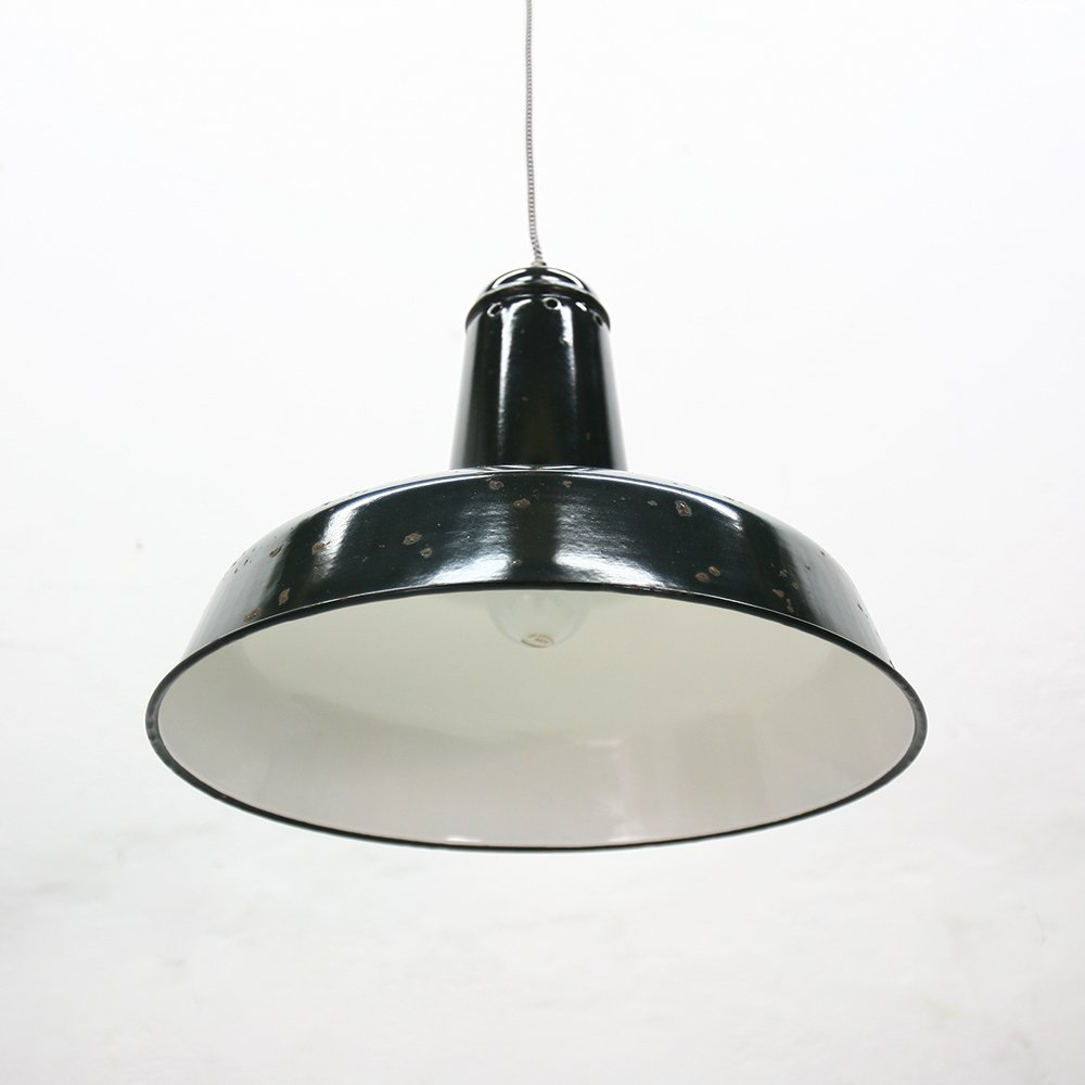 pendant light lighting products industrial enamel enameled ceiling small retro grey